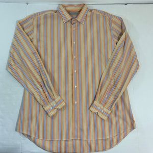 Etro Multicolored Striped Dress Shirt XL